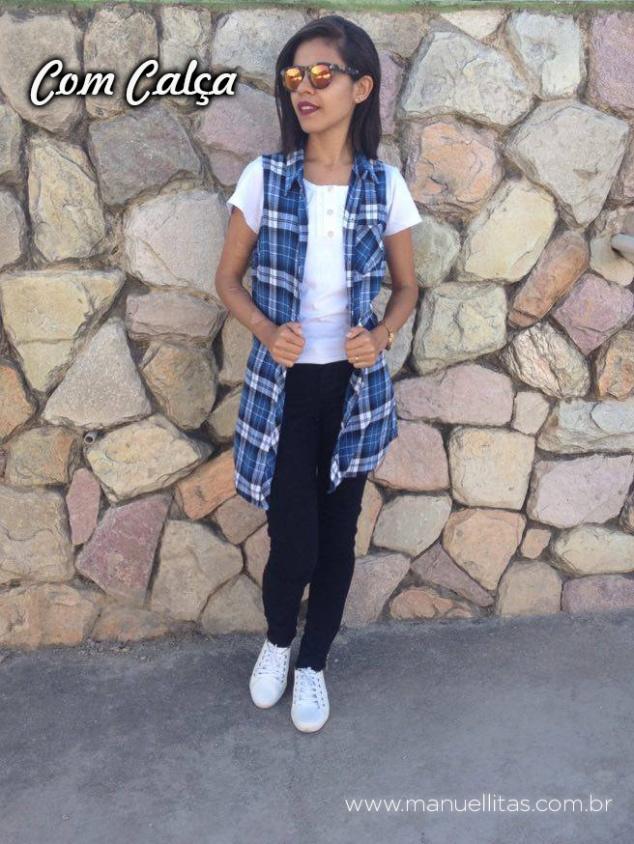 Calça: DonnaD Maxi blusa: Forever21 Tênis: C&A